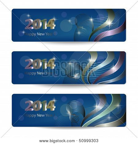 2014 New Year vector banners