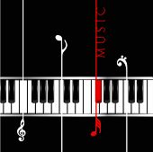Musical concept with piano, can be use as flyer, poster, banner or background for musical parties and concert.  poster