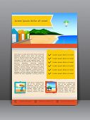 Summer beach parties flyer, brochure or cover design.  poster