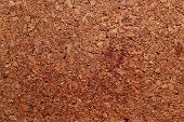 Detailed texture and pattern of cork background poster