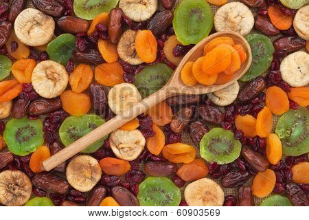 Wooden Spoon With Apricot