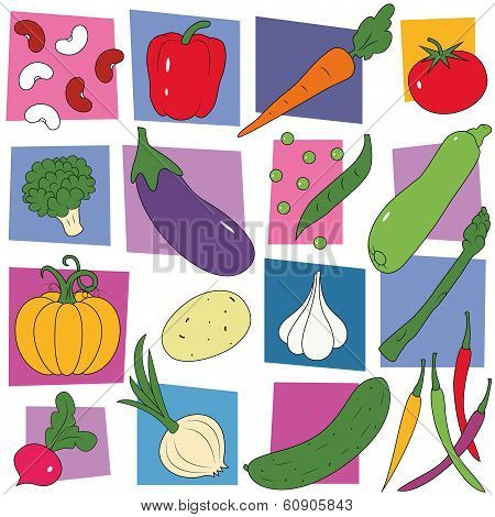 vegetables collection pattern