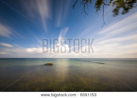 Dynamic Sky Nad Calm Sea