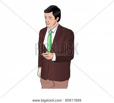 Business Man with suit give hand