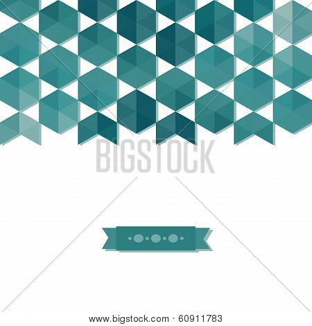 abstract background banner of hexagon. Use as a backdrop postcard banner. Clear geometric shapes with shadows. poster