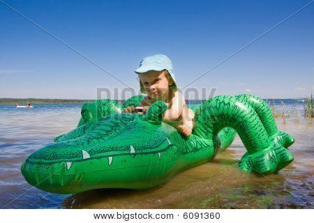Boy With Crocodile