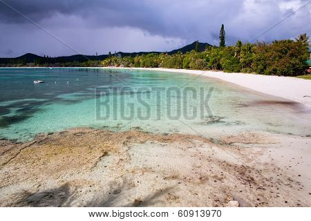 Beautiful beach at Isle Of Pines, South Pacific