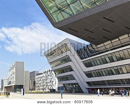 The New Building Of The Public University Of Economics Of Vienn