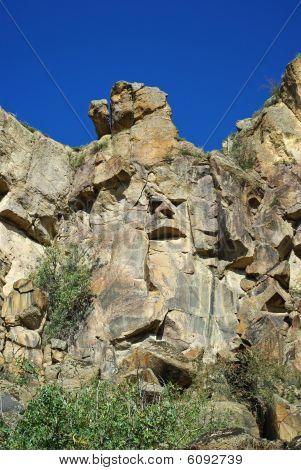 Rocks Against The Blue Sky