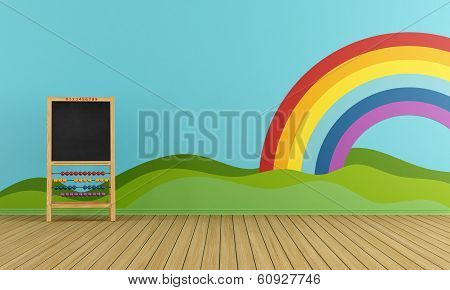 Playroom With Blackboard