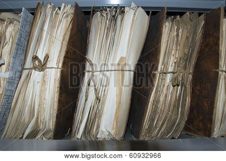 Old file in attic of municipality
