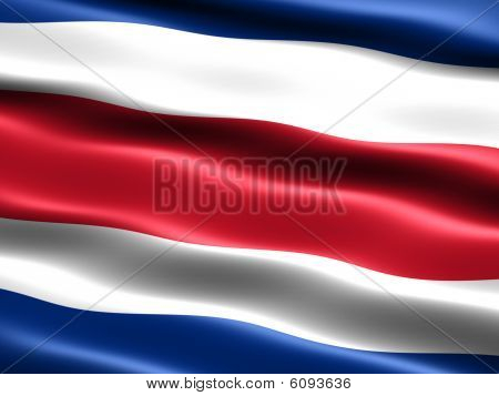 Flag Of The Republic Of Costa Rica