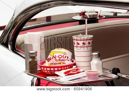 Depiction In-n-out Burger Drive-in Restaurant