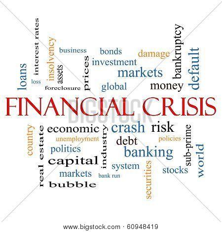 Financial Crisis Word Cloud Concept