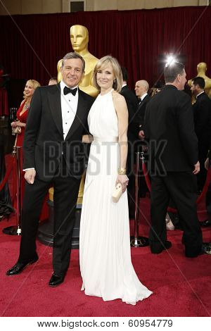 LOS ANGELES - MAR 2:: Bob Iger, Willow Bay  at the 86th Annual Academy Awards at Hollywood & Highland Center on March 2, 2014 in Los Angeles, California