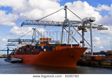 Freight Ship In The Port