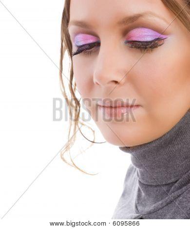 Close-up woman portrait