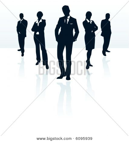 Silhouettes of vector business man and woman. More in my portfolio.