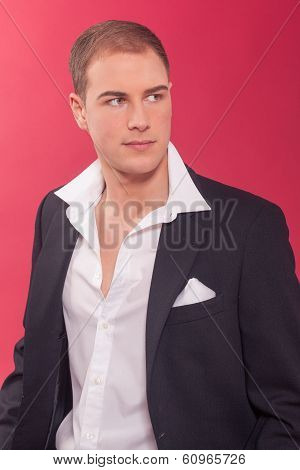 Handsome suave young man