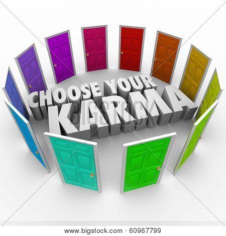 Choose Your Karma Words Door Circle Choices Destiny