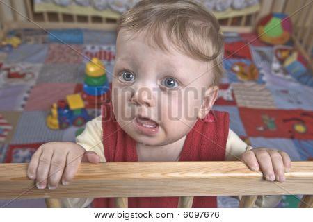 Boy In Playpen