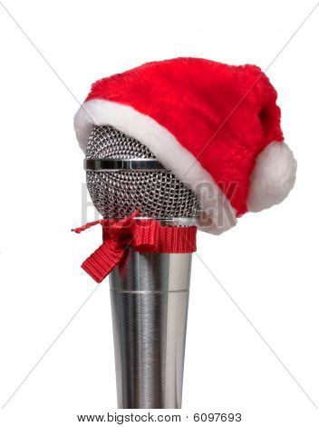 Microphone In The Hat Of Santa Claus