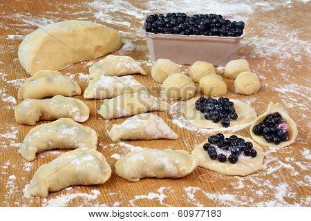 Dumplings Blueberries