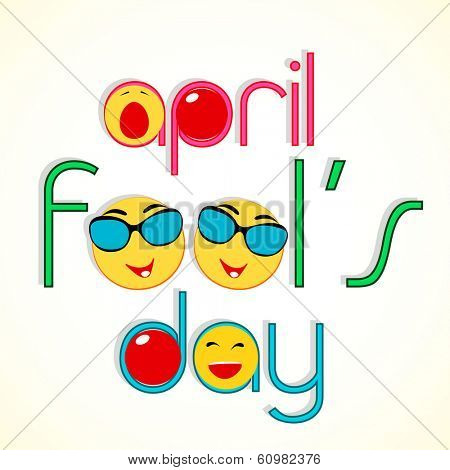 Happy Fool's Day funky concept with stylish text and funny elements. poster