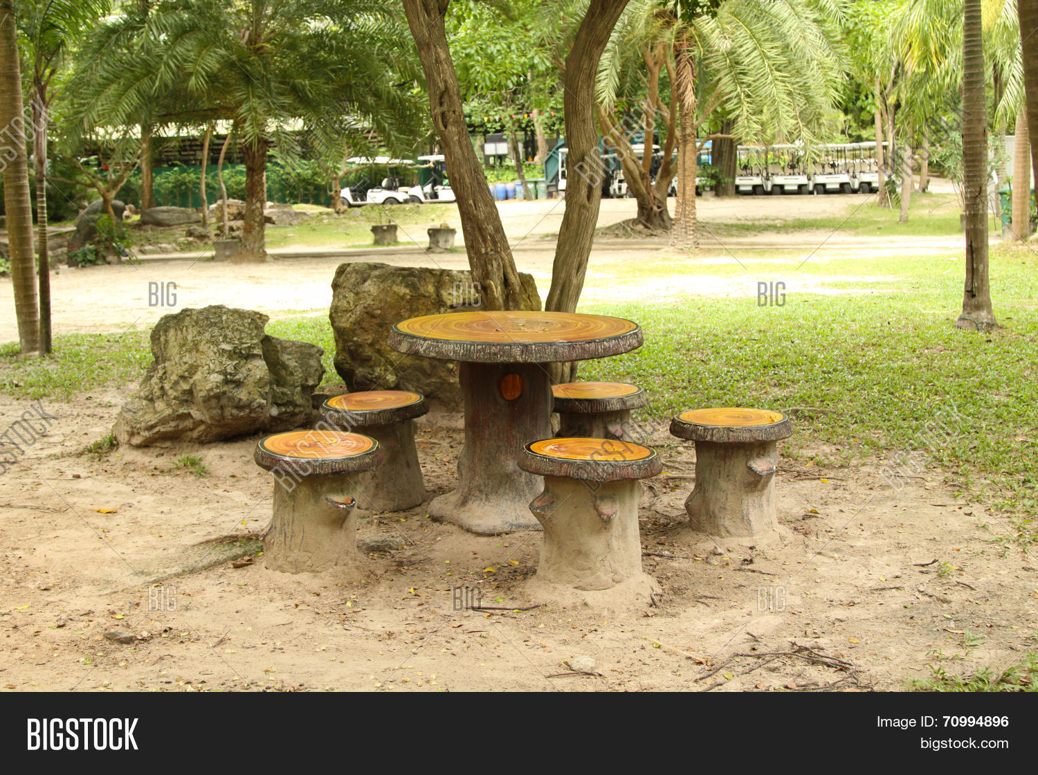 Cement Garden Chair Image Photo Free