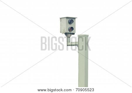 Radar control flash speed camera speed camera against a white background poster