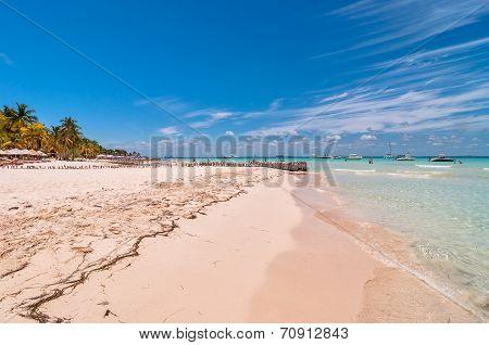 famous Playa del Norte beach in Isla Mujeres, Mexico