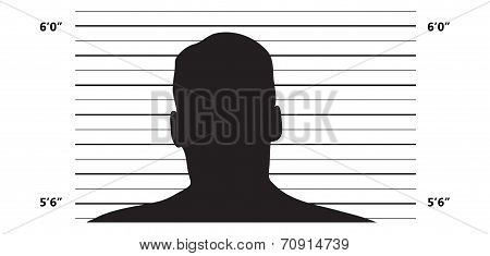 Illustrated Police Lineup Background On White