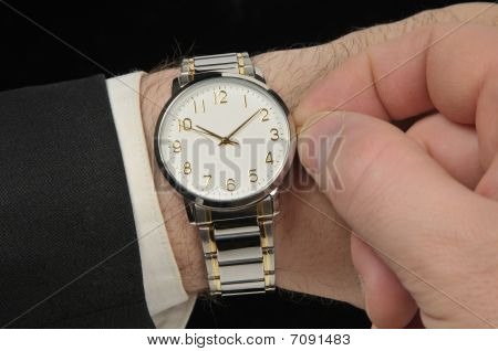 Wristwatch On A Hand Of Businessman