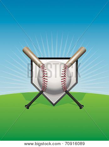 Baseball And Bats Background Illustration