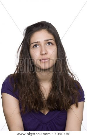 Portrait Of Young Woman. Isolated