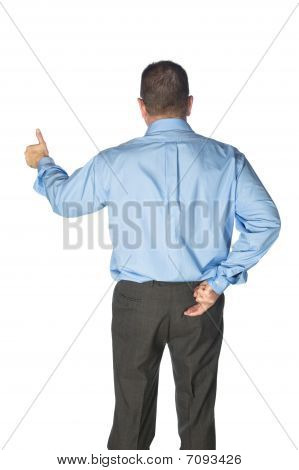 Businessman Giving Hand Signals