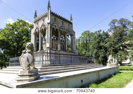 Potocki Mausoleum In Wilanow In Warsaw