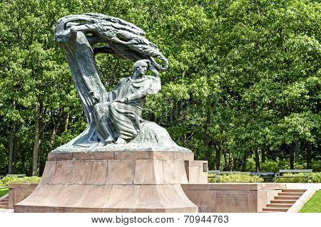 Monument To Chopin In Warsaw's Lazienki