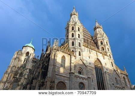 St. Stephan Cathedral In Center Of Vienna