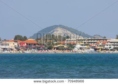Coast Of Laganas On Zakynthos