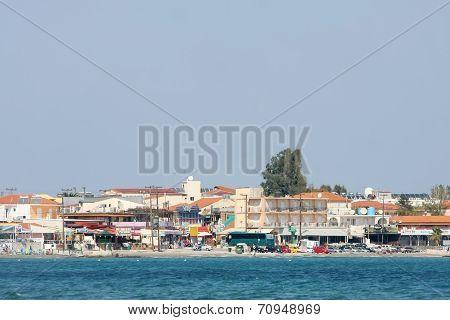Coast Of Laganas Resort On Zakynthos Island