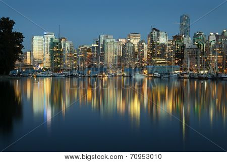 Coal Harbor, Evening Twilight, Vancouver