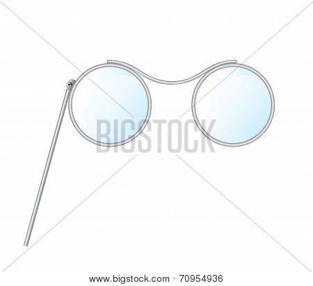Vintage glasses, pince-nez