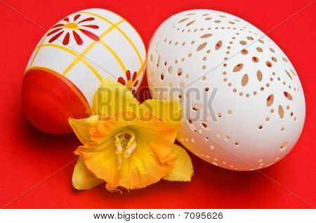 Easter Decoration With Pierced Egg