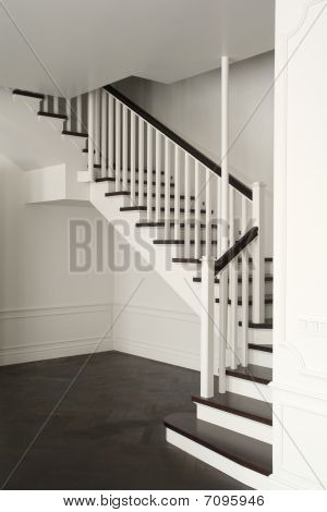 stair in white color