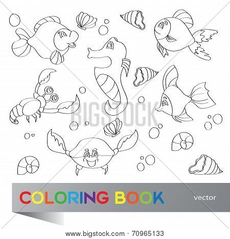 Coloring Book - Marine Life