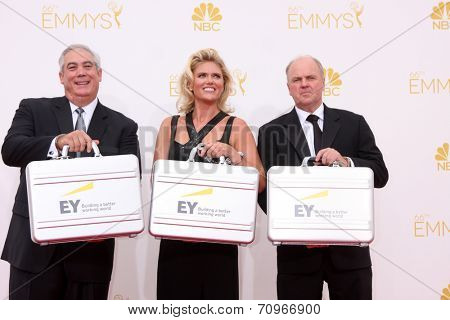 LOS ANGELES - AUG 25:  Ernst and Young Accountants at the 2014 Primetime Emmy Awards - Arrivals at Nokia at LA Live on August 25, 2014 in Los Angeles, CA