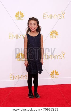 LOS ANGELES - AUG 25:  Aubrey Anderson-Emmons at the 2014 Primetime Emmy Awards - Arrivals at Nokia at LA Live on August 25, 2014 in Los Angeles, CA