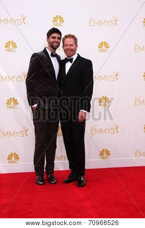 LOS ANGELES - AUG 25:  Jesse Tyler Ferguson at the 2014 Primetime Emmy Awards - Arrivals at Nokia at LA Live on August 25, 2014 in Los Angeles, CA