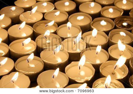 candles tea lights